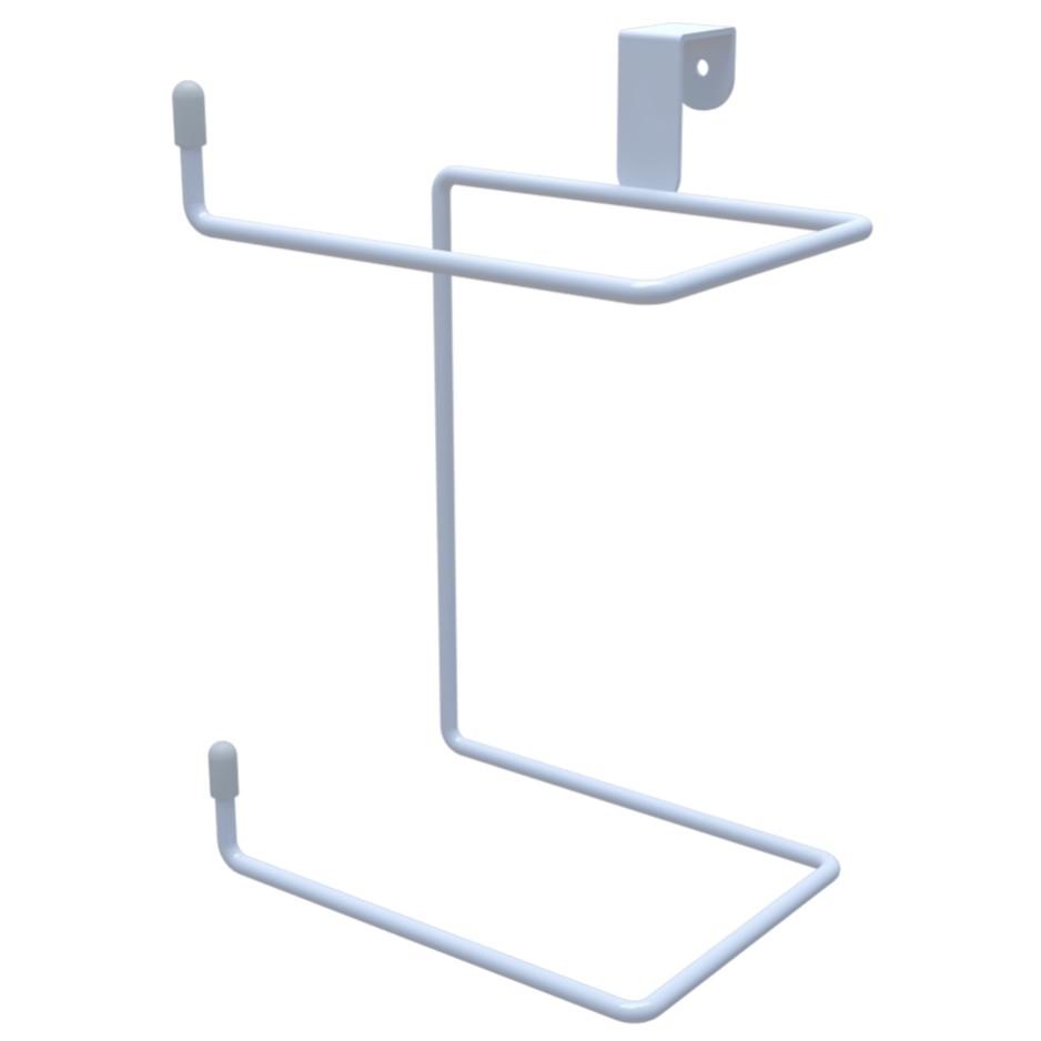 Porta Papel Higienico para Caixa Acoplada da Descarga Duplo Branco - DiCarlo
