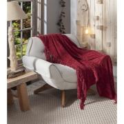 Capa para sofá 130x150 cm Vermelho B9107 - Jolitex