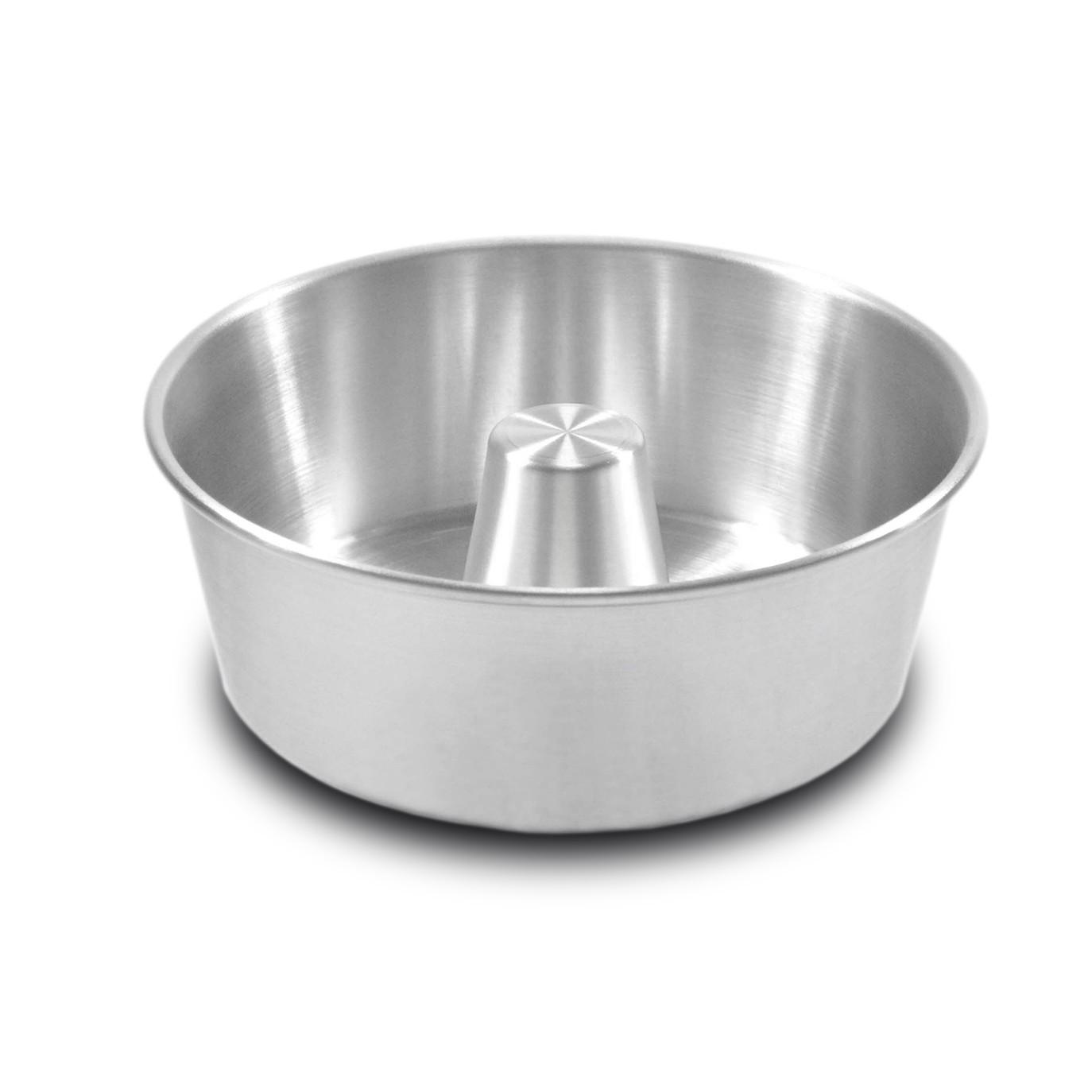 Forma de Aluminio Polido para Bolo e Pudim Redondo 22cm - Arnix
