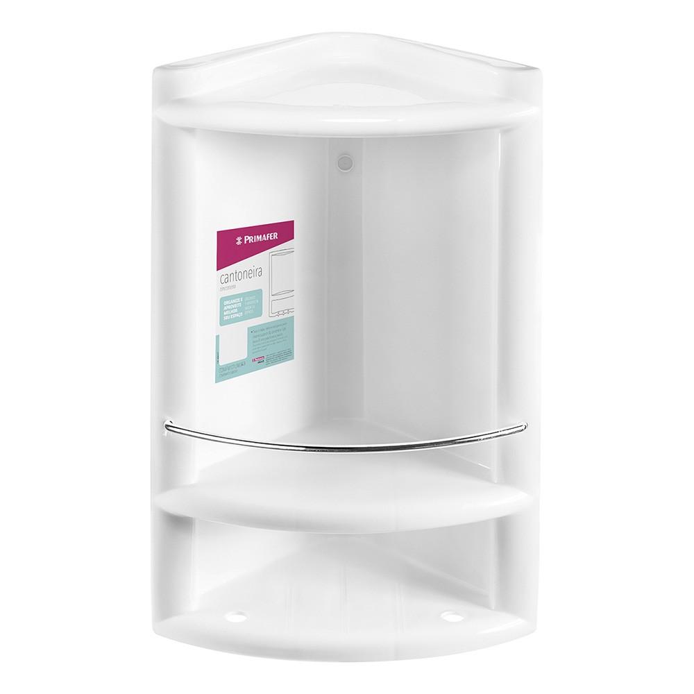 Cantoneira de Banheiro Plastico Branco 10182 - Primafer
