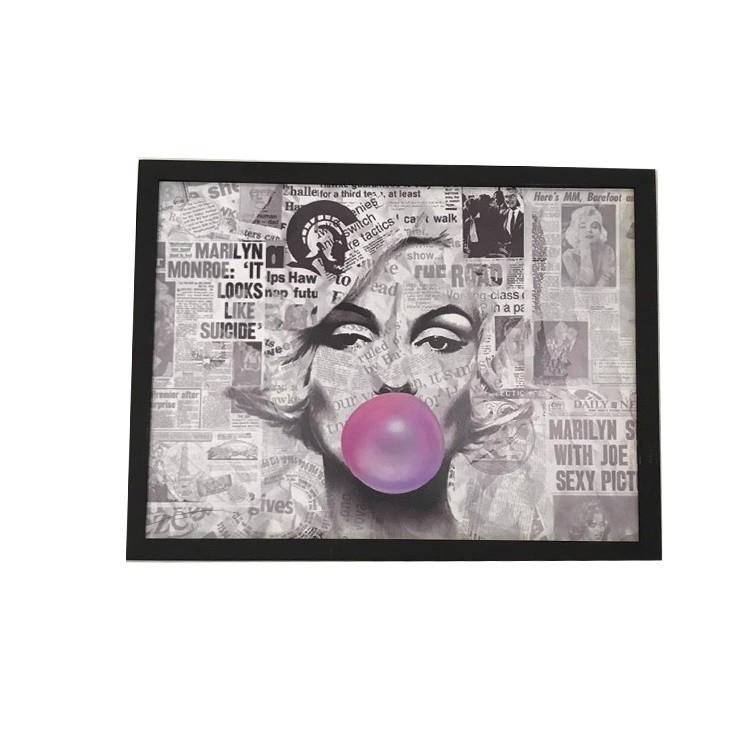 Quadro Decorativo 30x40 cm Marilyn com Chiclete 532 - Az Design