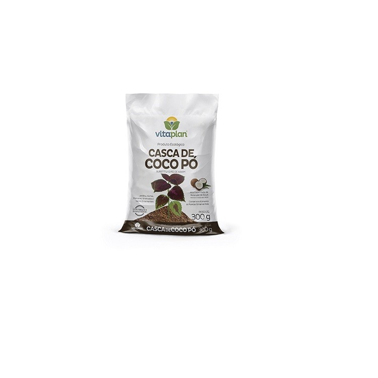 Casca de Coco para Condicionamento do Solo 300 gr Pronto para Uso - Nutriplan