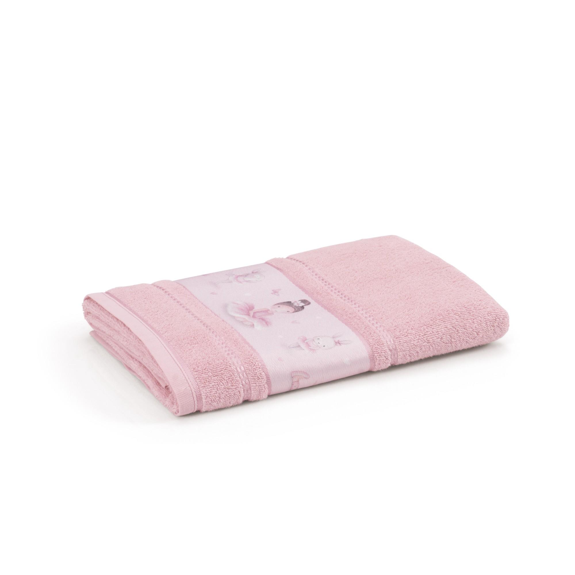 Toalha de Banho Infantil Bailarina 67 x 135 cm Rosa - Karsten