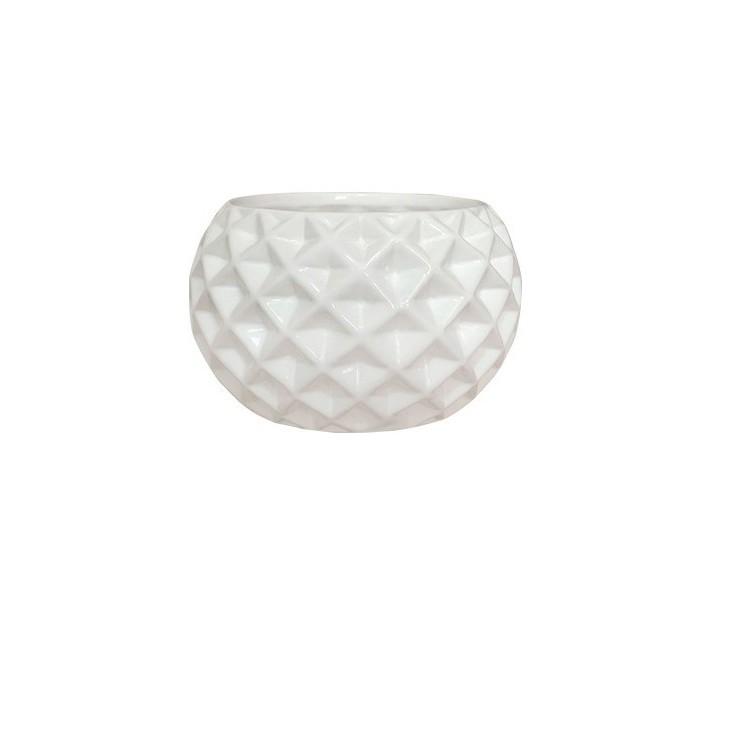 Cachepot Ceramica Bola Branco 3241 - Ceramica Regina