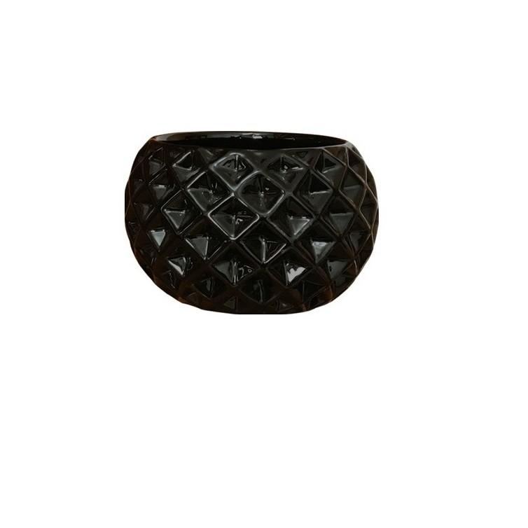 Cachepot Ceramica Bola Preto 3242 - Ceramica Regina