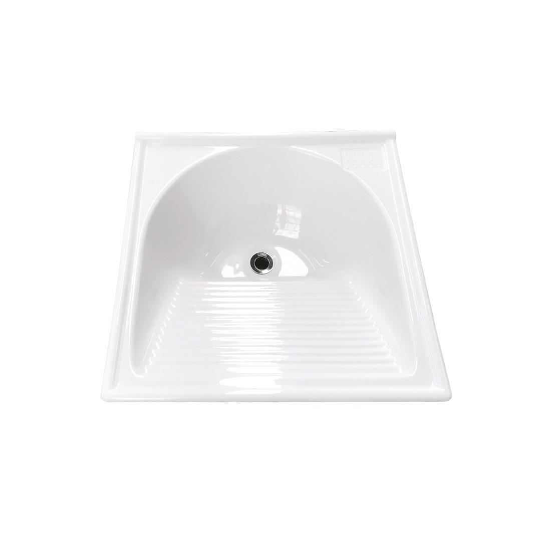 Tanque Fibra Simples 60x60 cm Branco TM060BR - Decoralita