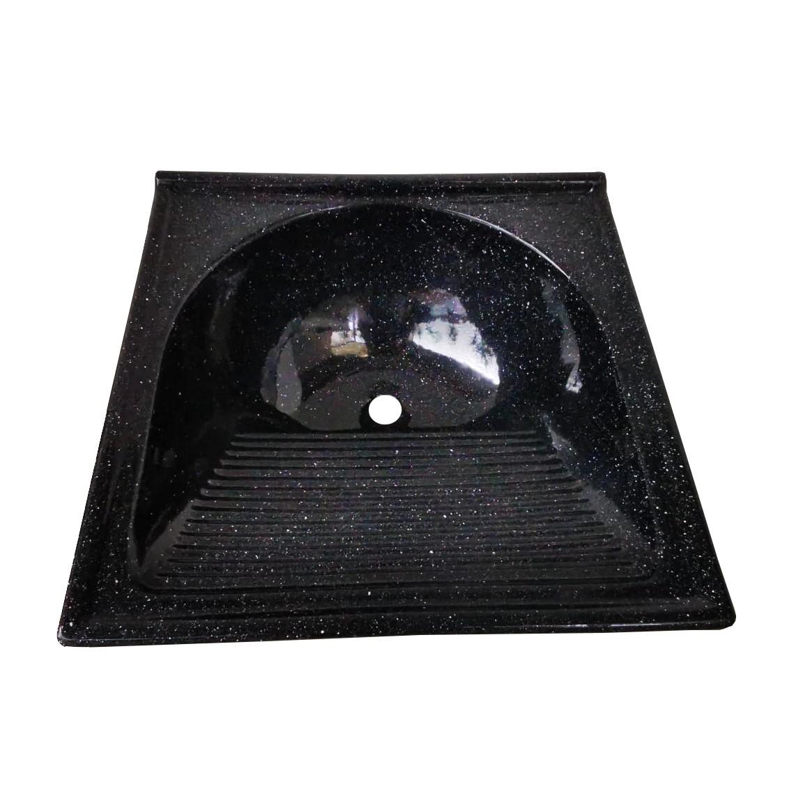 Tanque Fibra Simples 60x60 cm Cinza TM060CN - Decoralita