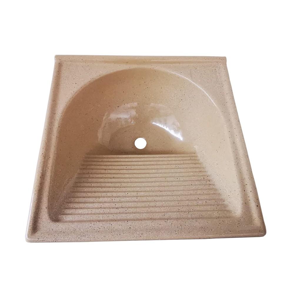 Tanque Fibra Simples 60x60 cm Marrom TM060MI - Decoralita