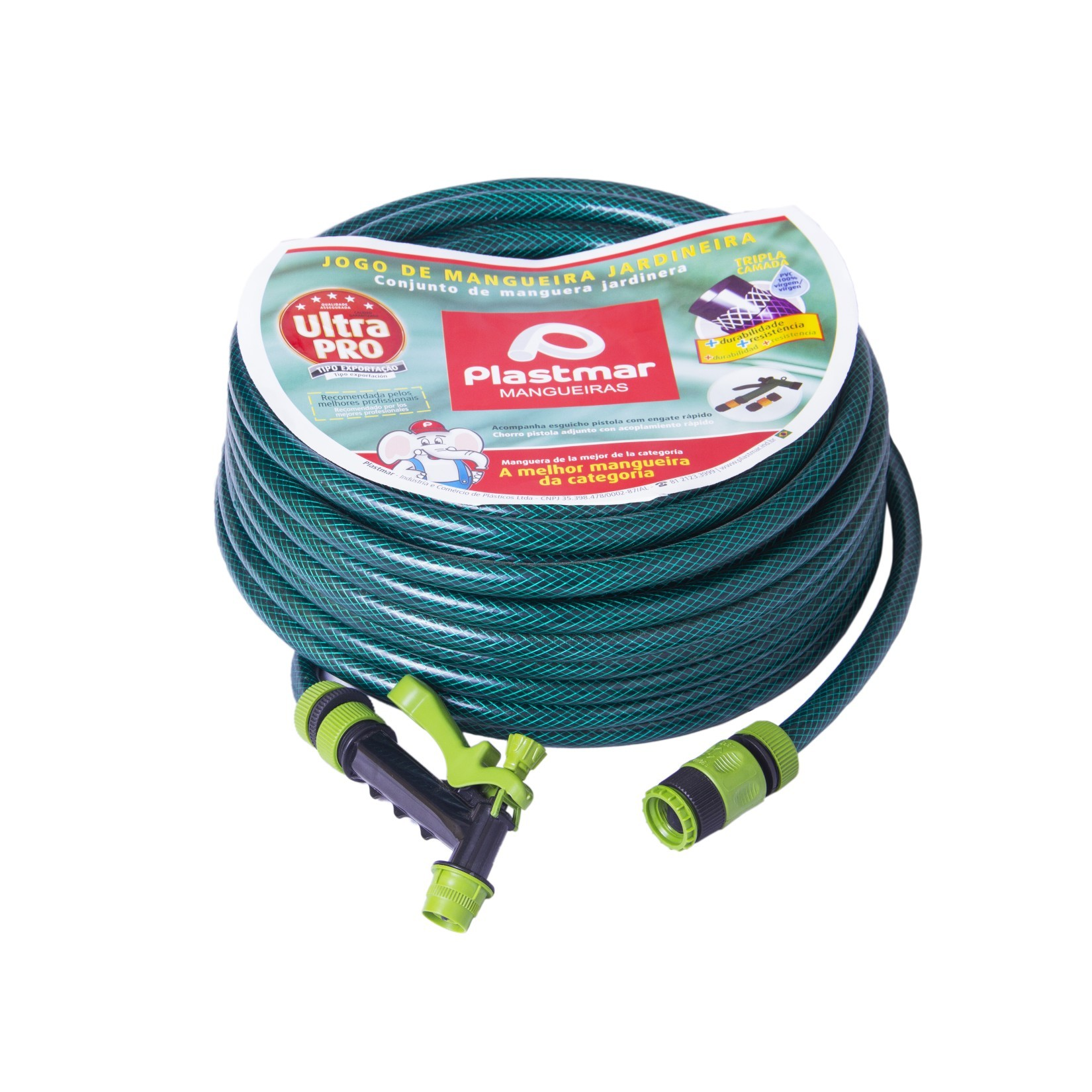 Mangueira de PVC 15m 12 Verde 661 - Plastmar