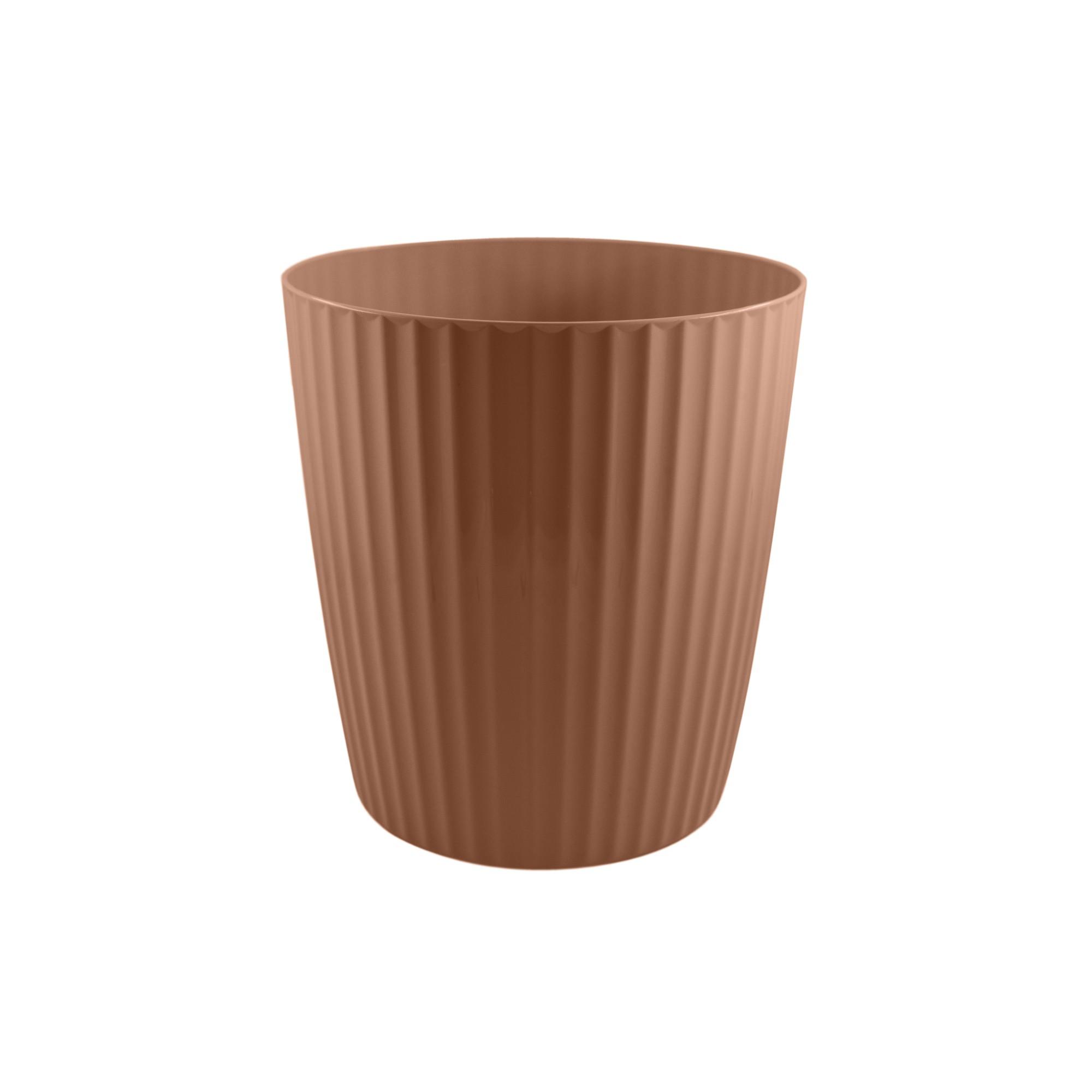 Vaso para Plantas Plastico 219x20cm Groove Terracota - Ou