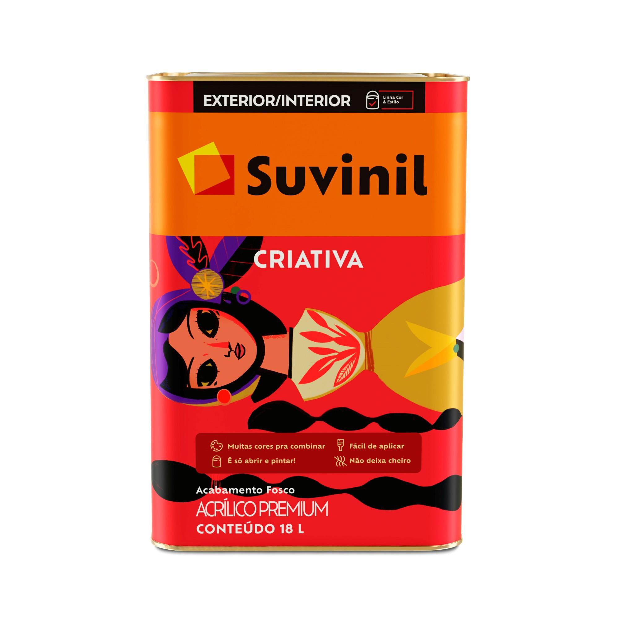 Tinta Acrilica Premium Criativa Fosco 18L - Branco Neve - Suvinil