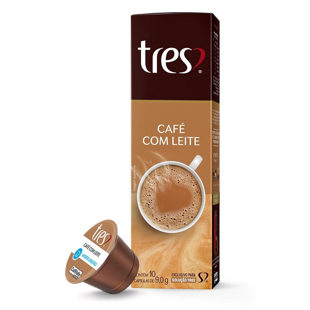 Capsula de Cafe com Leite Tres Coracoes - Caixa com 10 unidades