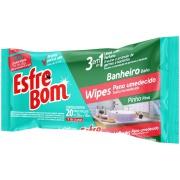 Pano Esfrebom Umedecido 3 em 1 para Banheiro Pinho Wipes - Bettanin