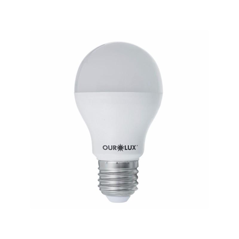 Lampada LED Bulbo 9w E27 Bivolt Luz Branca - Ourolux