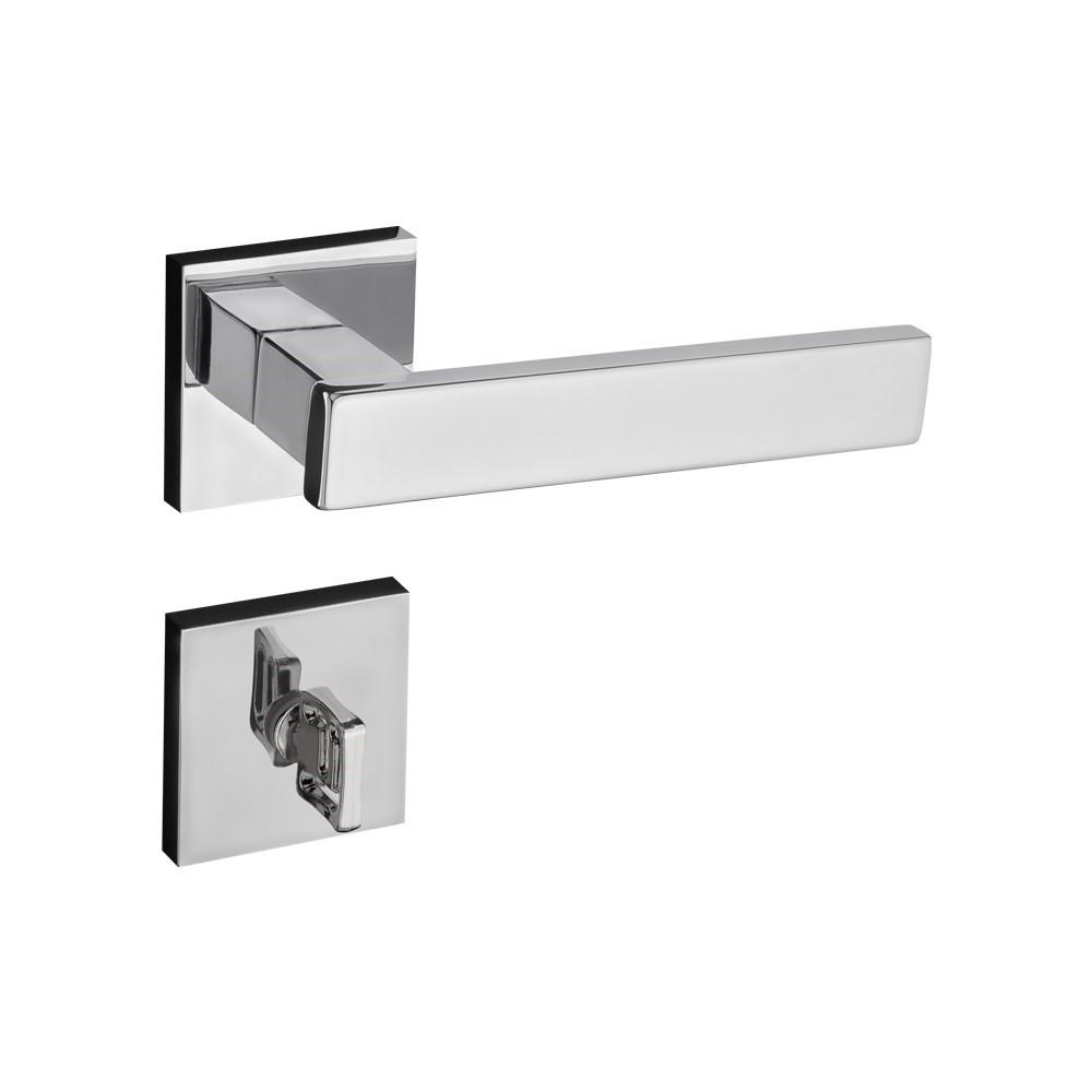 Fechadura Banheiro Roseta Retro 55 mm Zamac Cromado - 41190B - Pado
