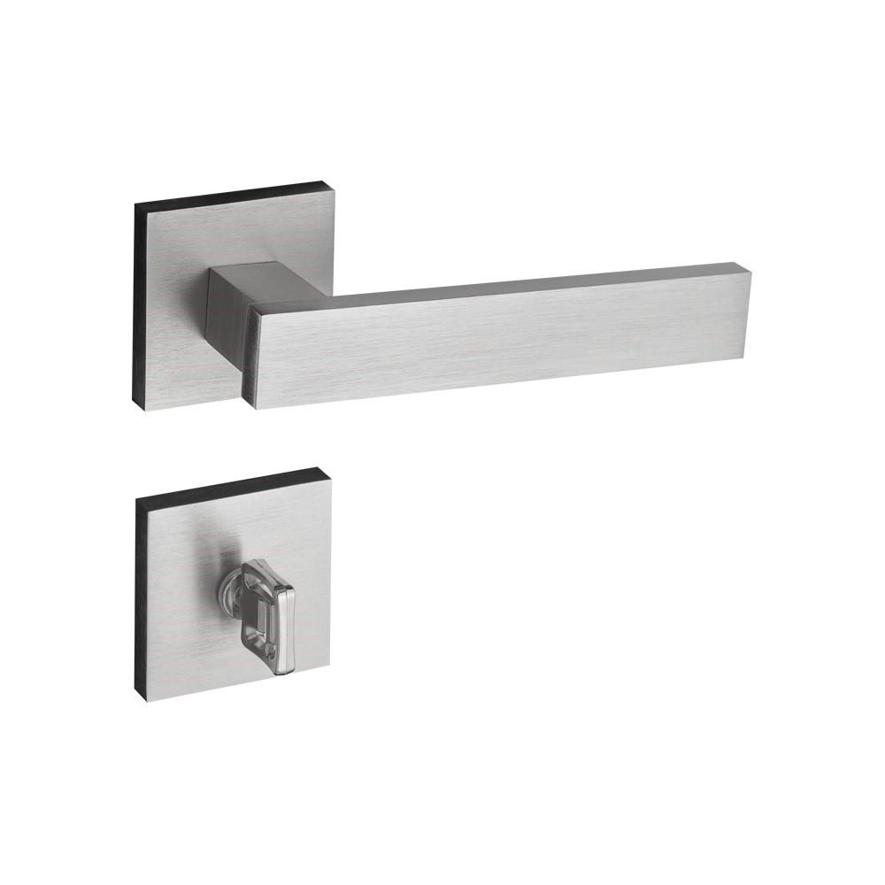 Fechadura Banheiro Roseta Retro 55 mm Zamac Cromo Acetinado - 41190B - Pado