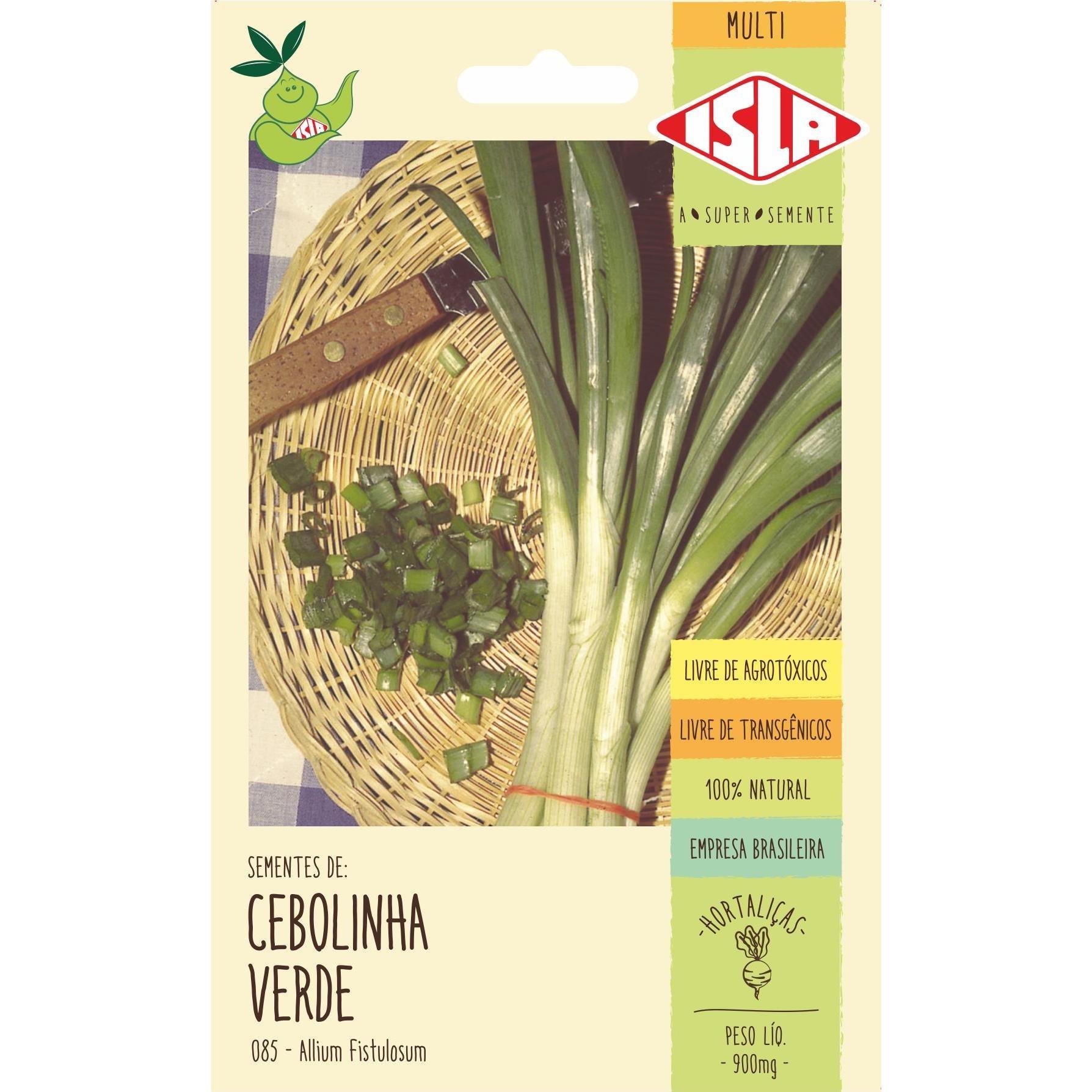 Semente Tempero Cebolinha Verde 900mg Envelope 8521 - Isla