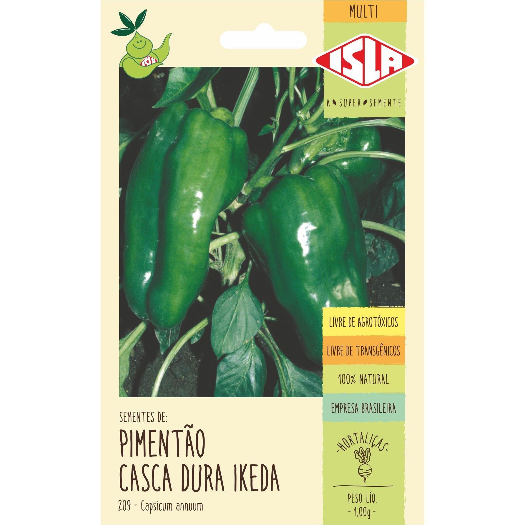 Semente Hortalica Pimentao 1g Envelope 20921 - Isla