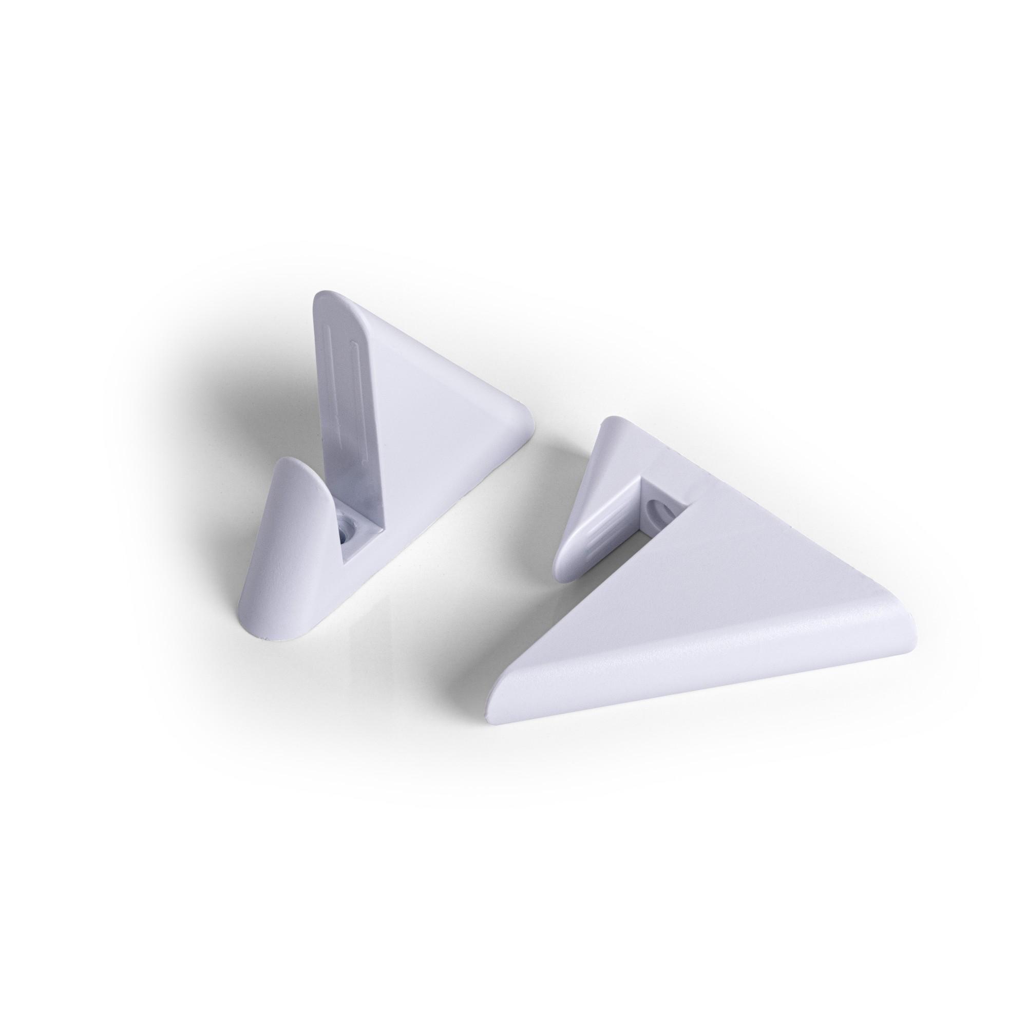 Suporte Fixo de Plastico Abs Parafusar Triangular 2 Unidades 30cm - Mademaster