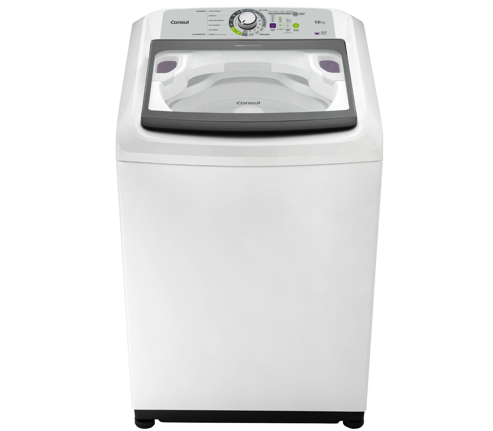 Maquina de Lavar Consul 13kg Maxi Economia com Funcao Eco Enxague - CWE13 110V