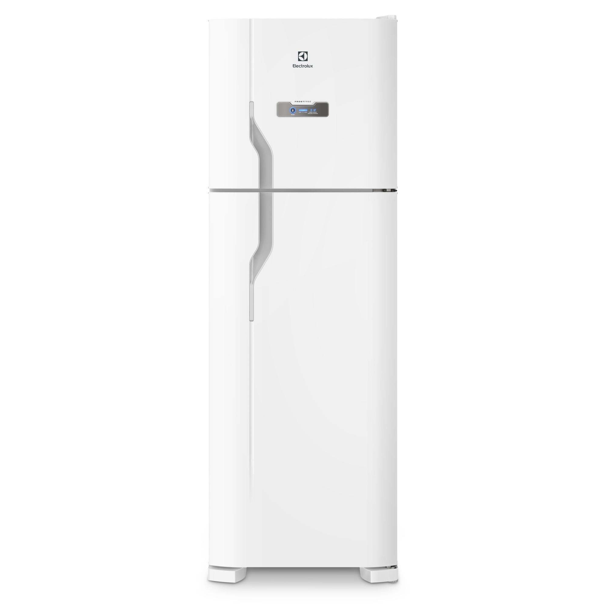 GeladeiraRefrigerador Electrolux Frost Free Duplex 371L Branco 127V - Painel Touch DFN41
