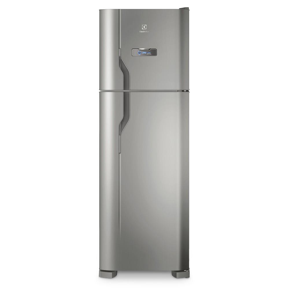 GeladeiraRefrigerador Electrolux Frost Free Duplex 371L Prata 127V - Painel Touch DFX41