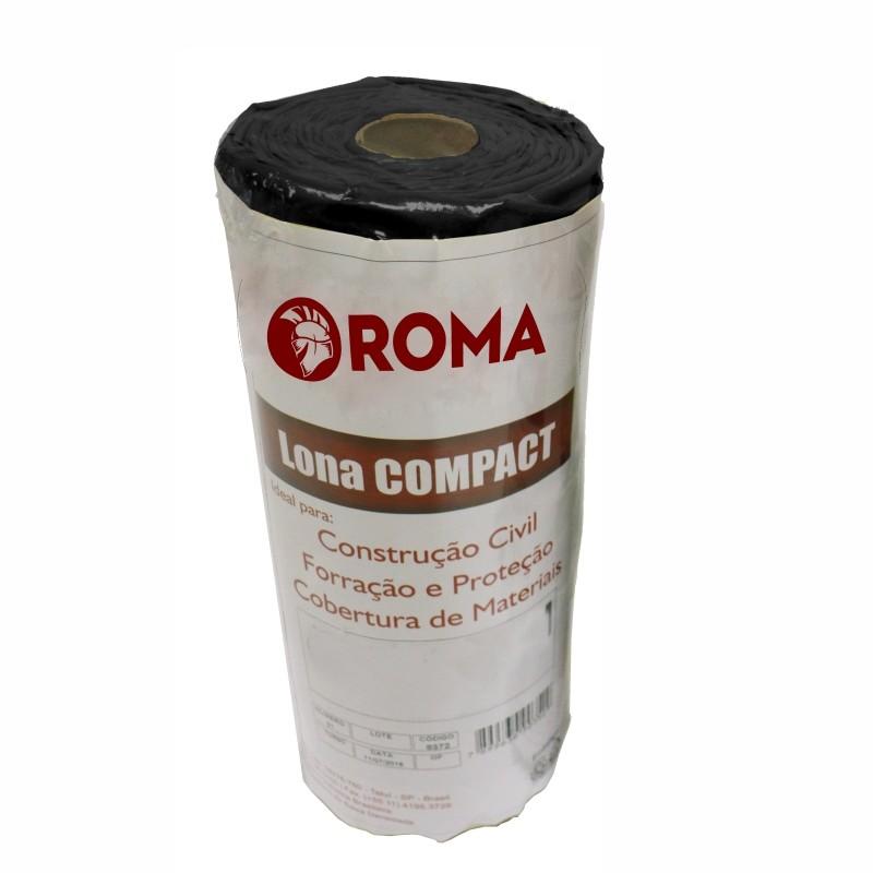 Lona Plastica 10x4m Preta 12445 - Roma