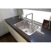 Cuba Morgana Tramontina para Cozinha de Embutir Aço Inox Acetinado 69x49cm com Válvula Cinza - 93806/192