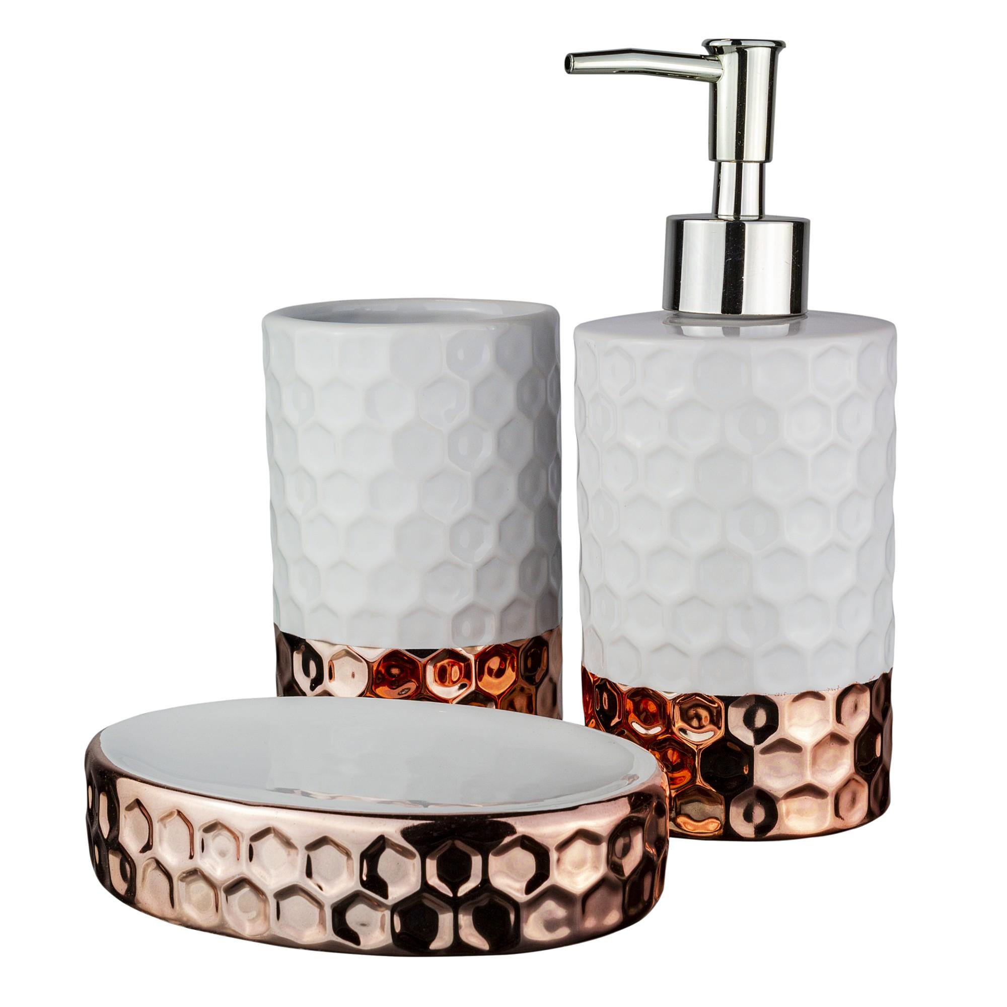 Jogo para Banheiro de Ceramica 3 Pecas UDB18123B - Bianchini