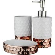 Jogo para Banheiro de Cerâmica 3 Peças UDB18123B - Bianchini