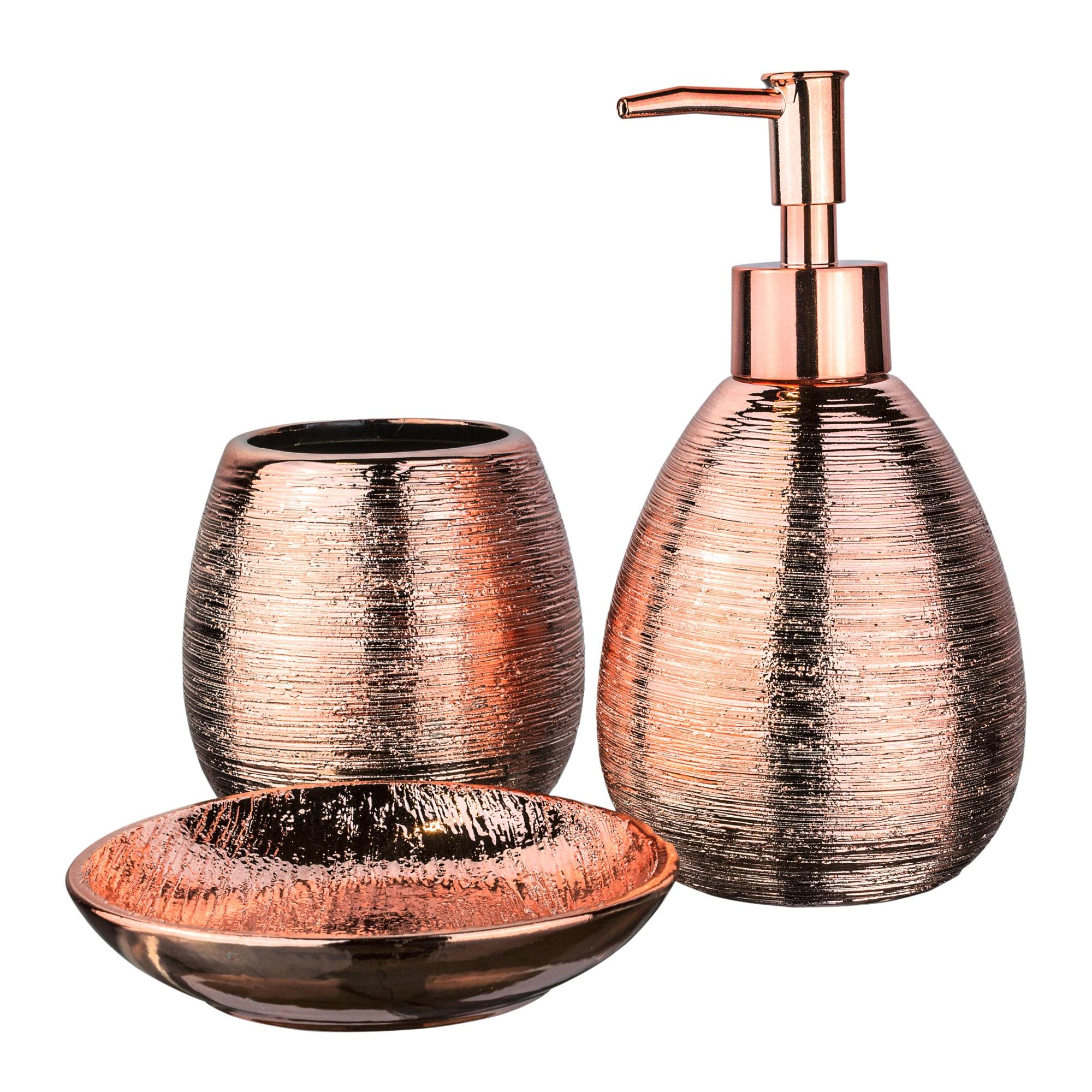 Jogo de Banheiro em Ceramica 3 Pecas - Bianchini