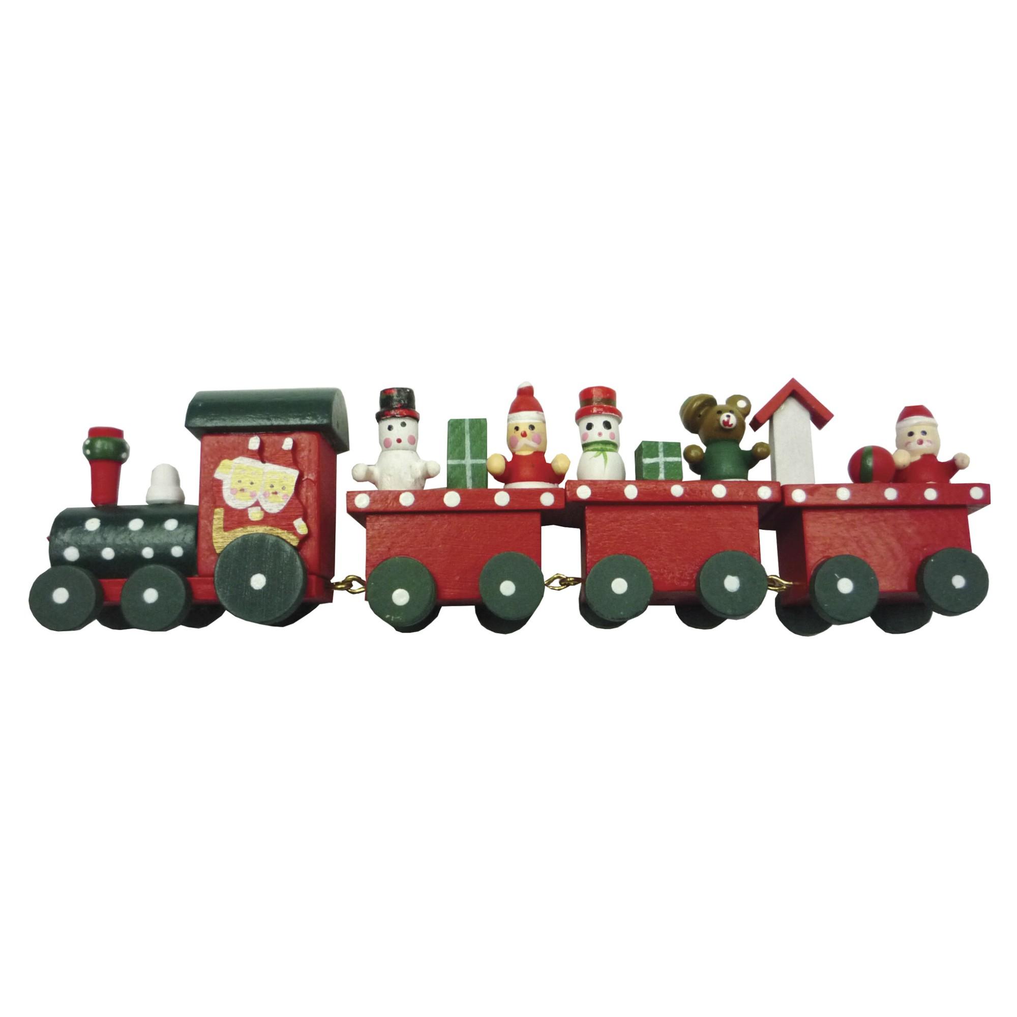 Enfeite de Natal Trem de Madeira - Rio de Ouro Natal