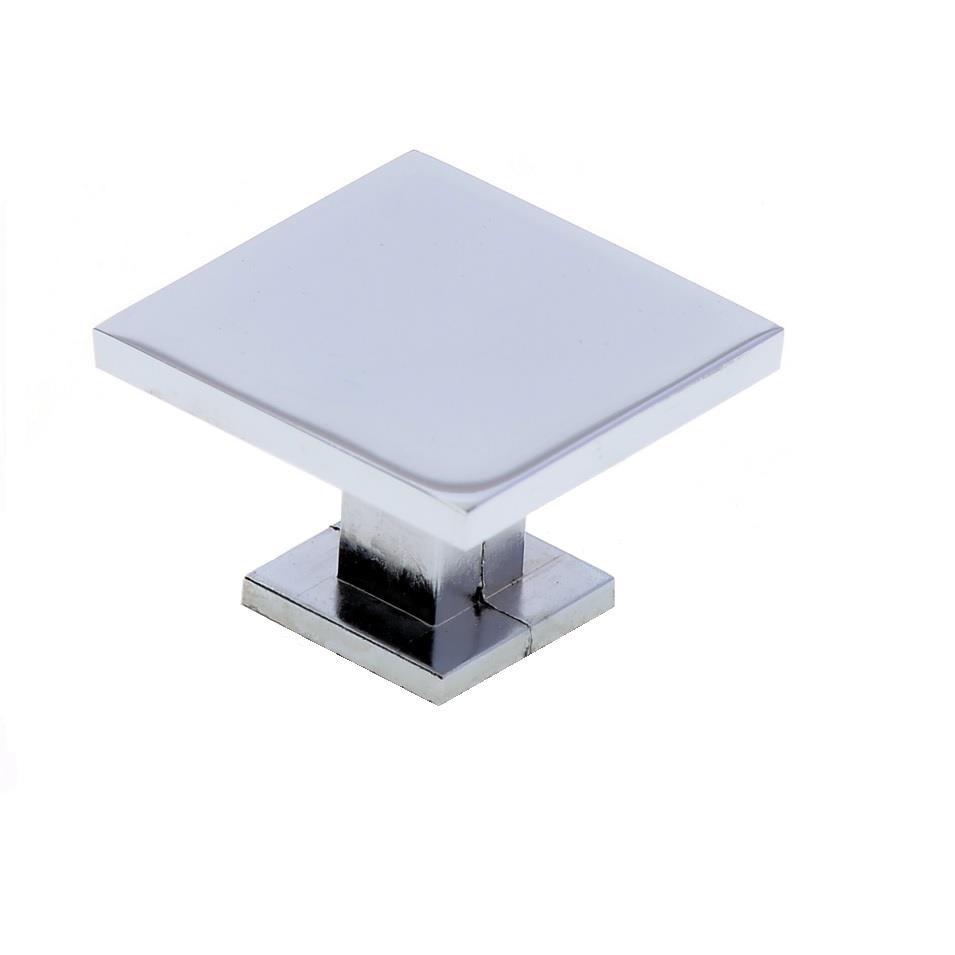 Puxador para Moveis Quadrado Zamac Cromado 25mm - Hastvel