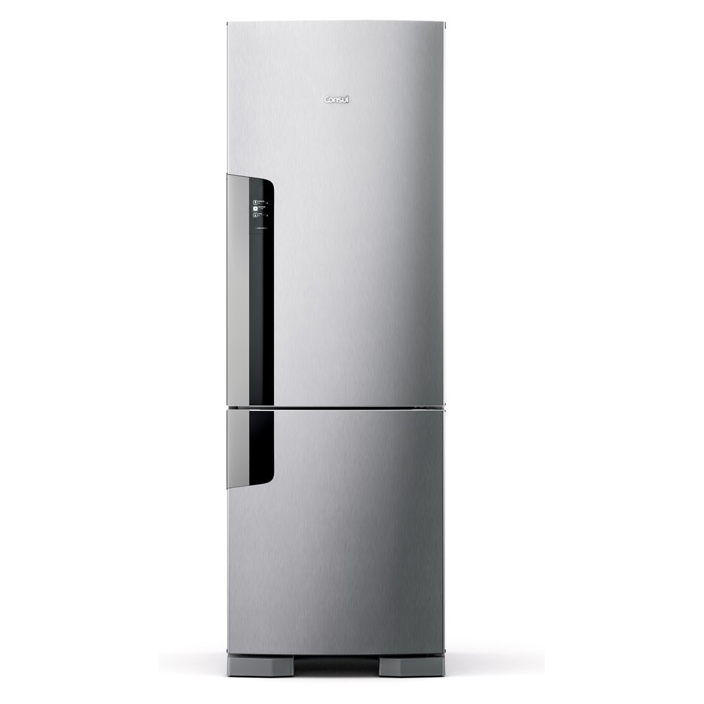 GeladeiraRefrigerador Consul Frost Free Inverse 397L 220V Inox - CRE44AKBNA