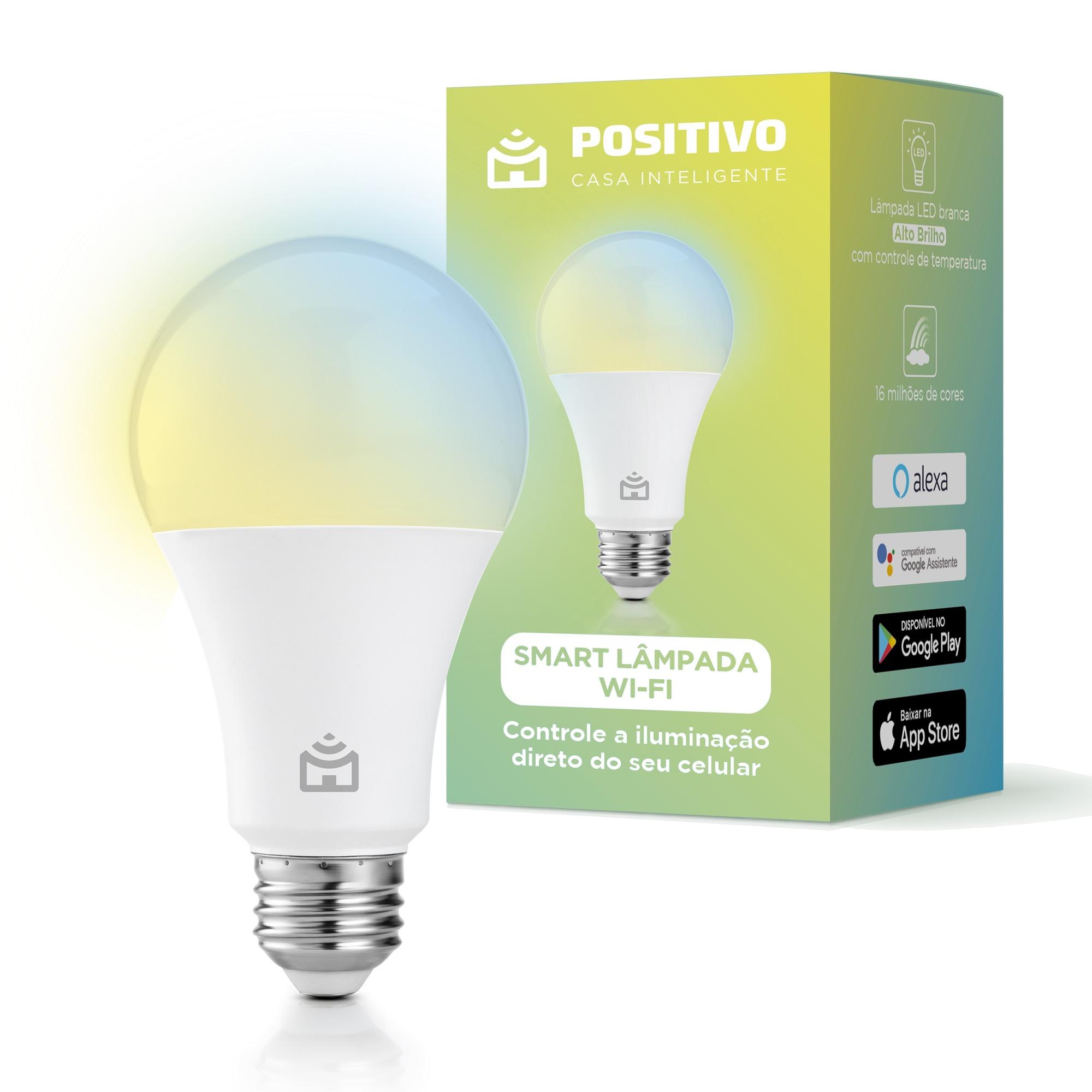Lampada Inteligente Smart LED Wi-Fi Bulbo 9W Multicor E27 - Positivo