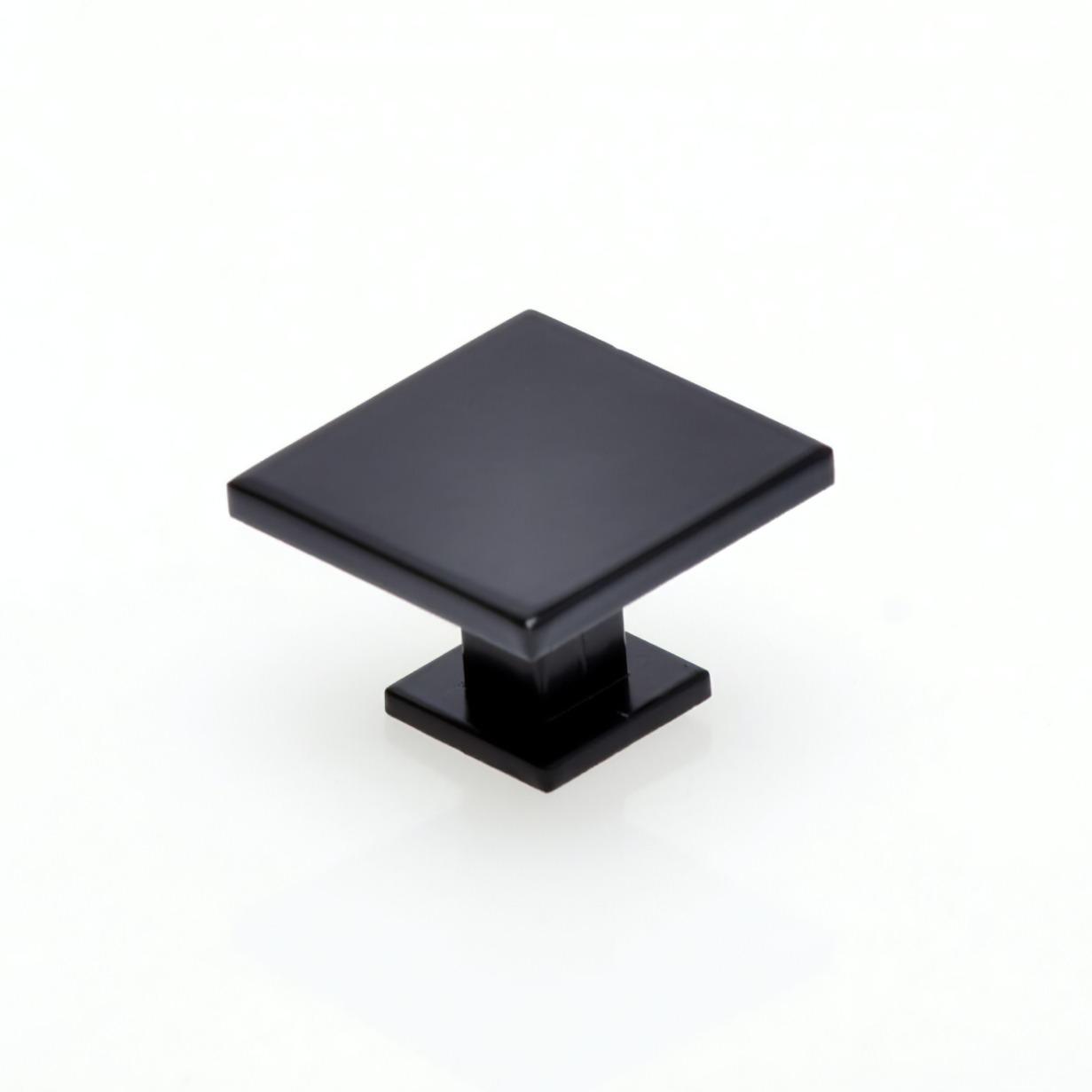 Puxador para Moveis Quadrado Preto Fosco 35mm - Hastvel