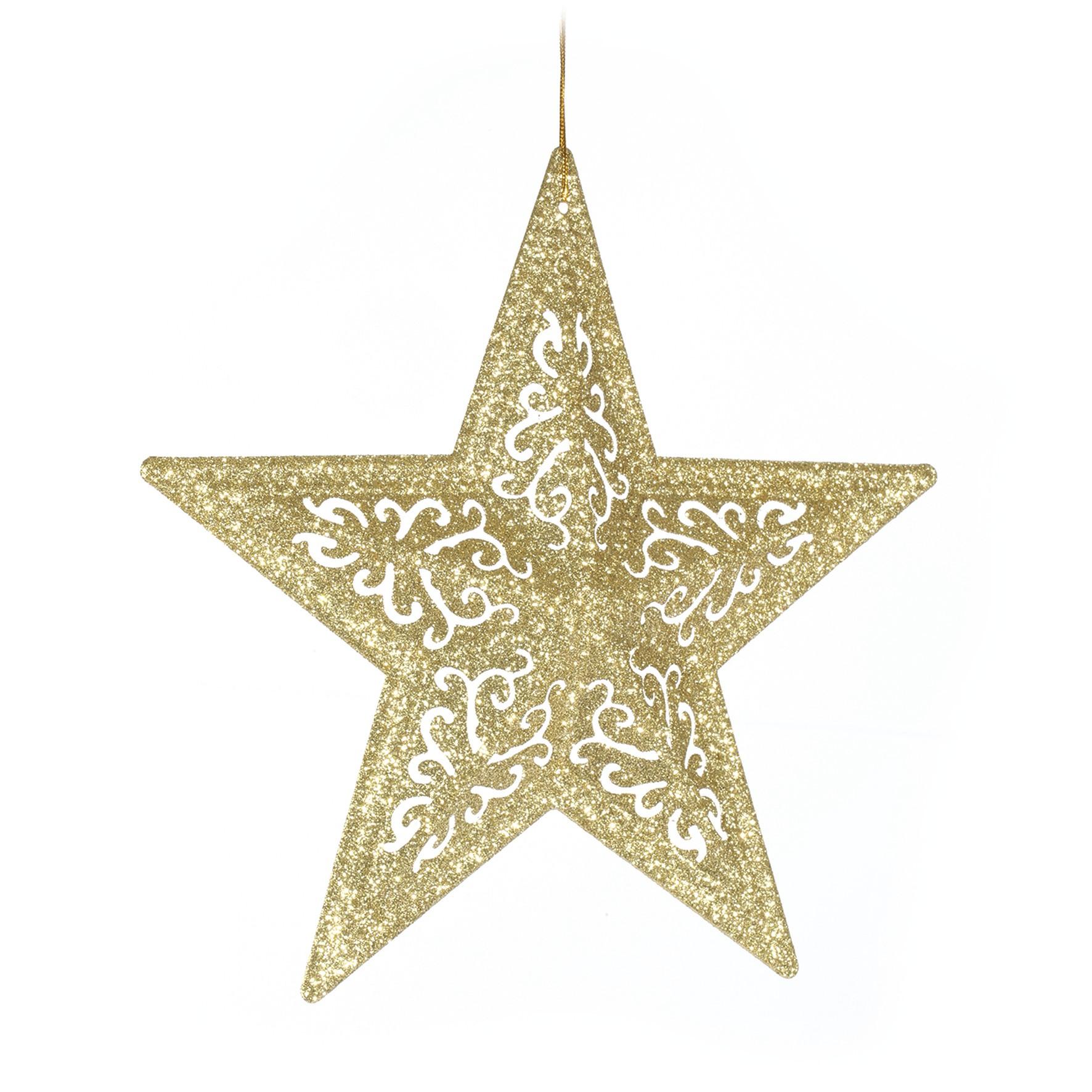 Enfeite de Arvore Estrela 26 cm Dourada - 19759 - Yangzi
