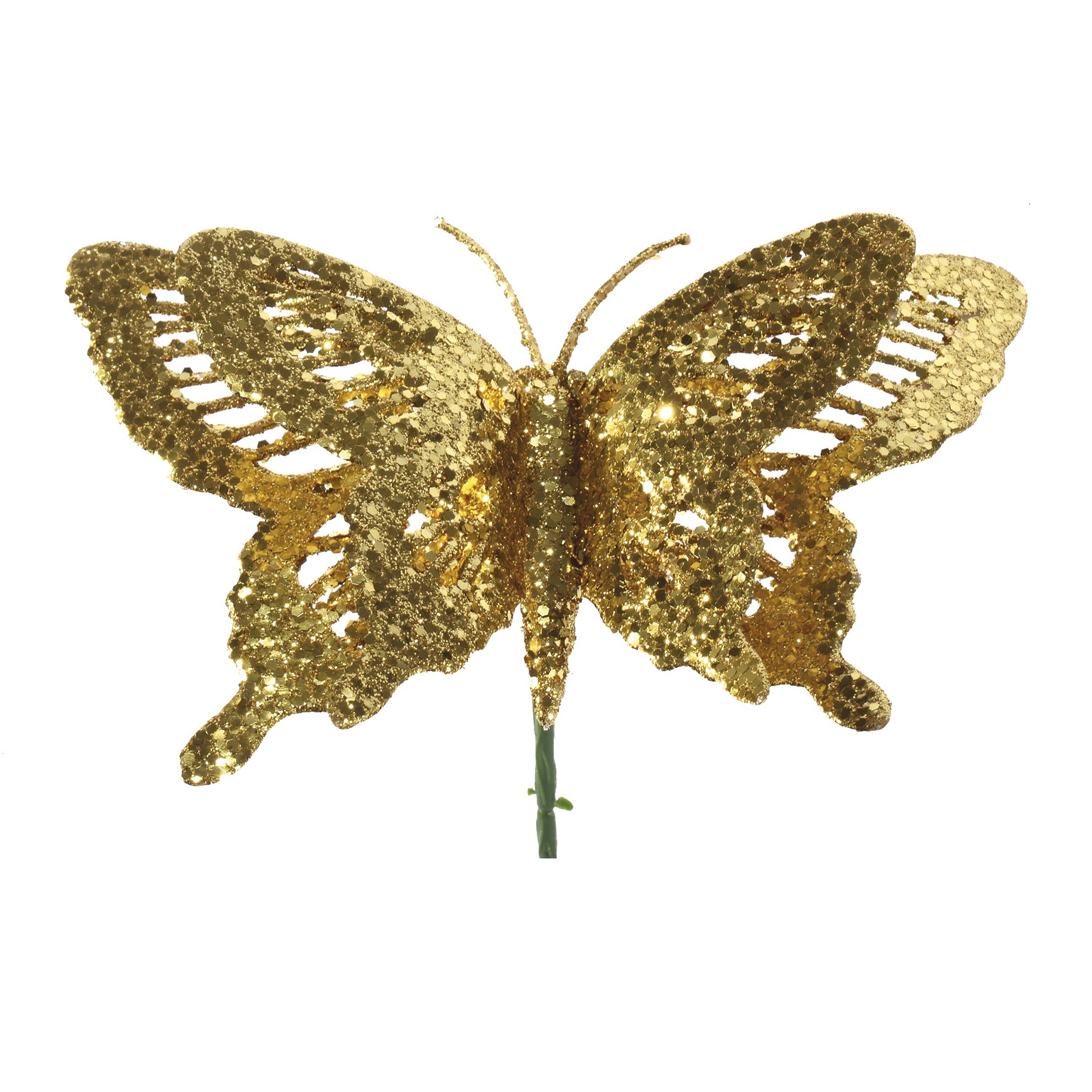 Enfeite Natalino Borboleta 23 cm Dourada - 20206 - Yangzi