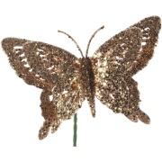 Borboleta Dupla com Glitter 23 cm - Magizi