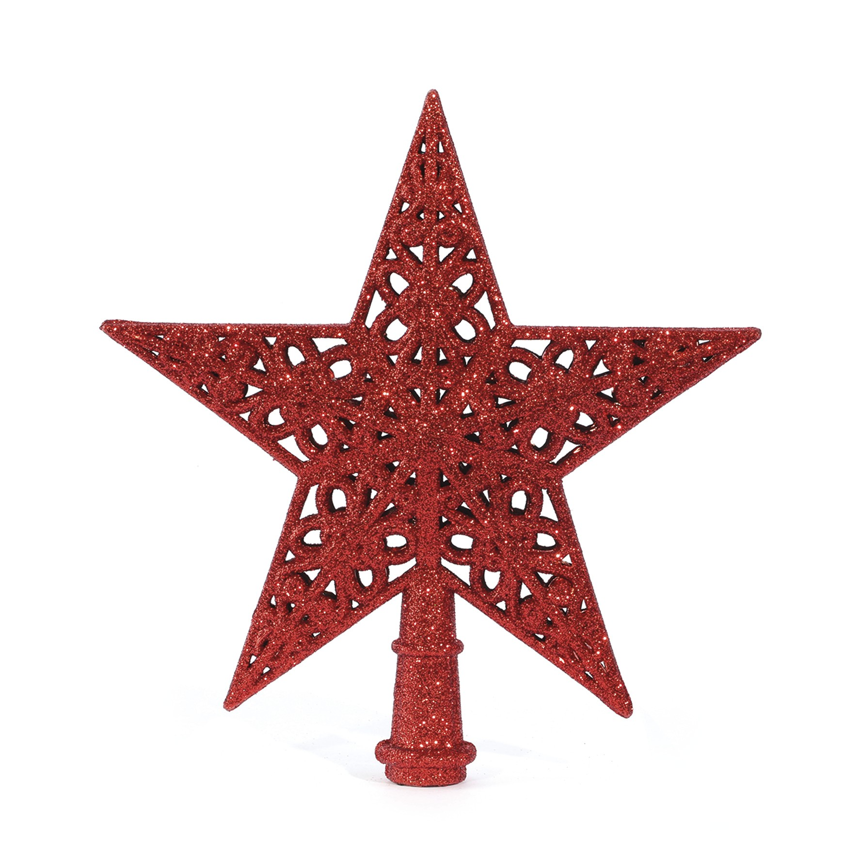 Estrela de Arvore de Natal 21 cm Vermelha - 19771 - Yangzi