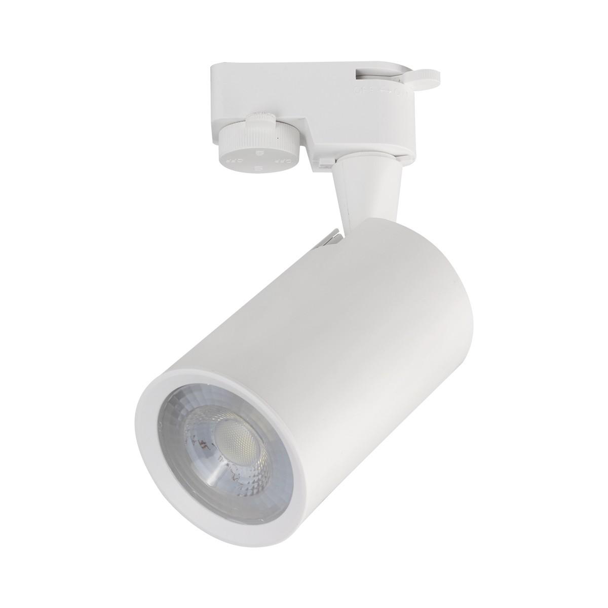 Spot LED Branco Aluminio 5W Luz Amarela 65lm - Luminatti