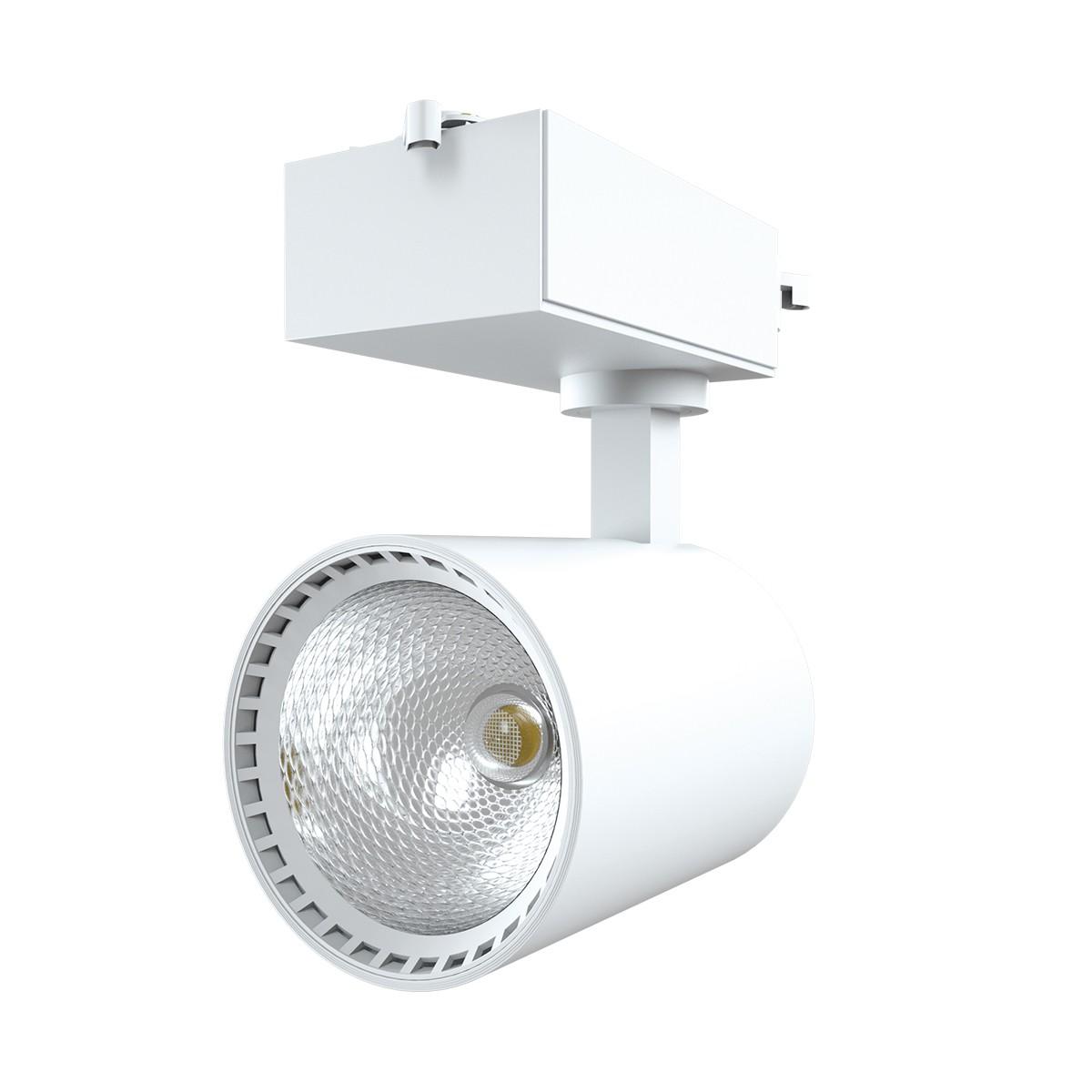 Spot LED Branco Aluminio 18W Bivolt Luz Amarela - Luminatti