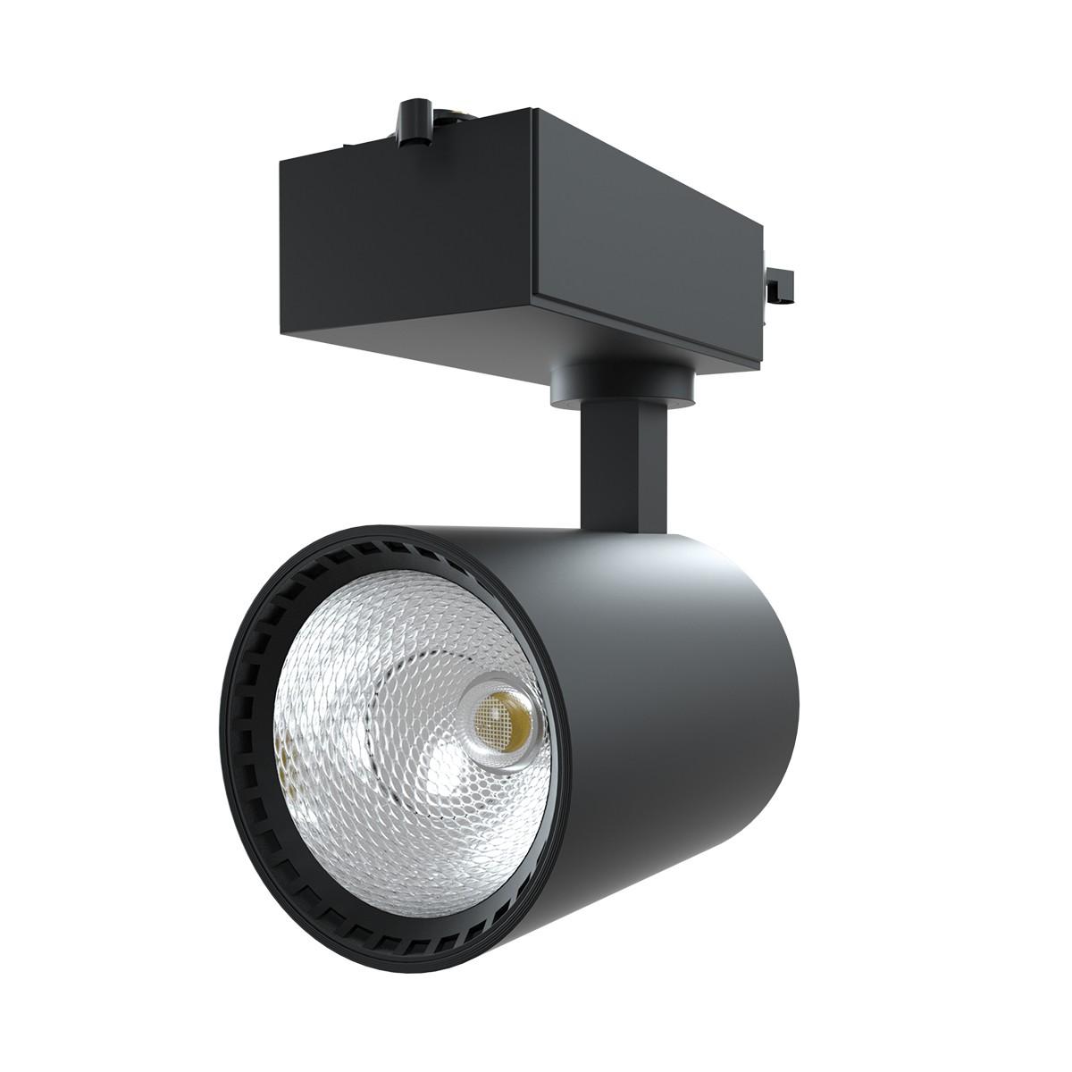Spot LED Preto Aluminio 18W Bivolt Luz Amarela - Luminatti