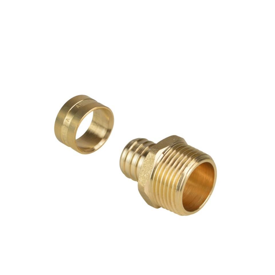 Conector Metal 16 mm 12 Pex 97493 - Amanco
