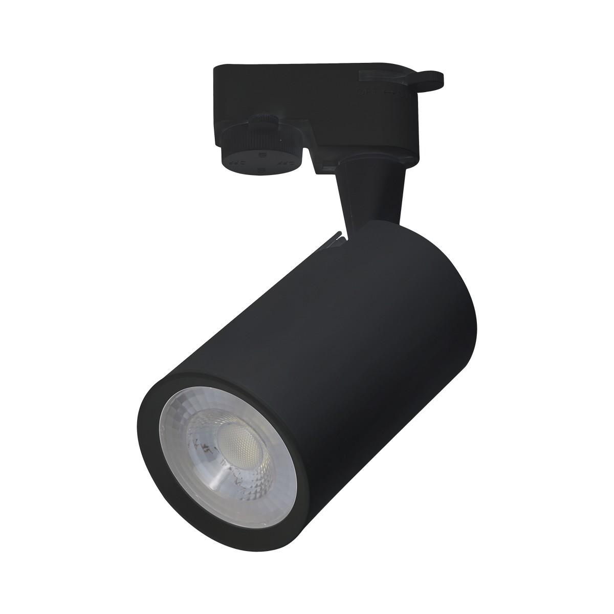 Spot LED Preto Aluminio 5W Bivolt Luz Branca - Luminatti