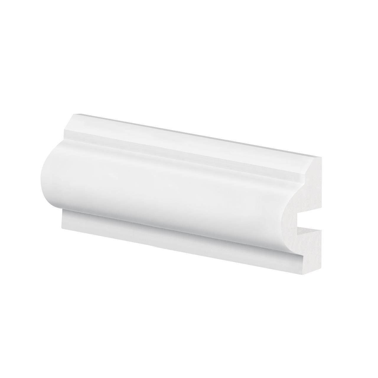Rodameio 3cm Branco Poliestireno 240m - 018343103 - Arquitech
