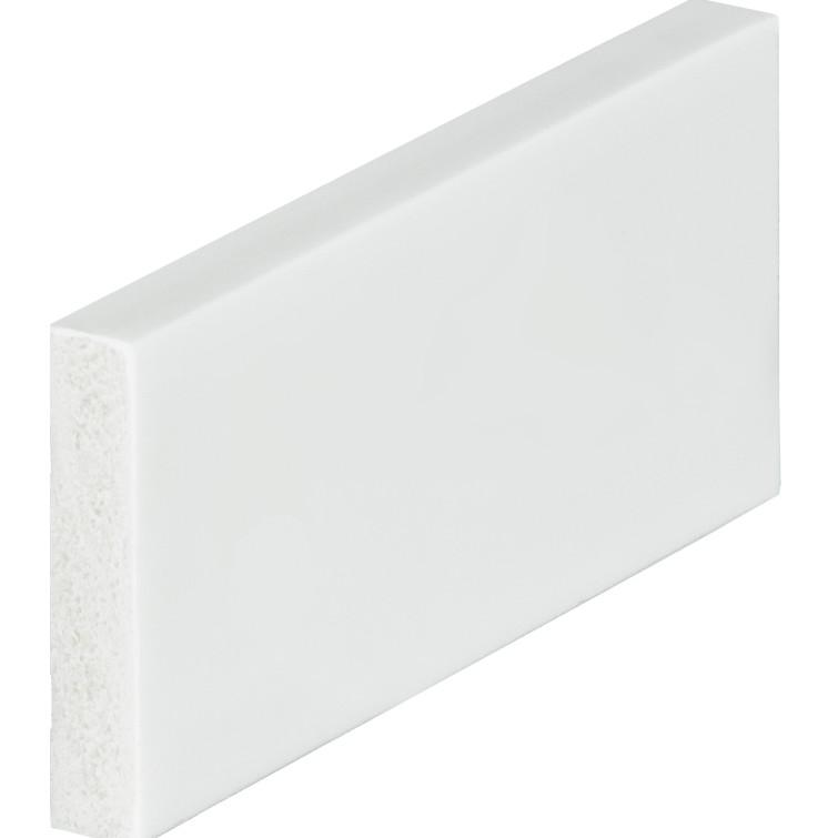 Rodape 5cm Branco Poliestireno 240m - 018065005 - Arquitech