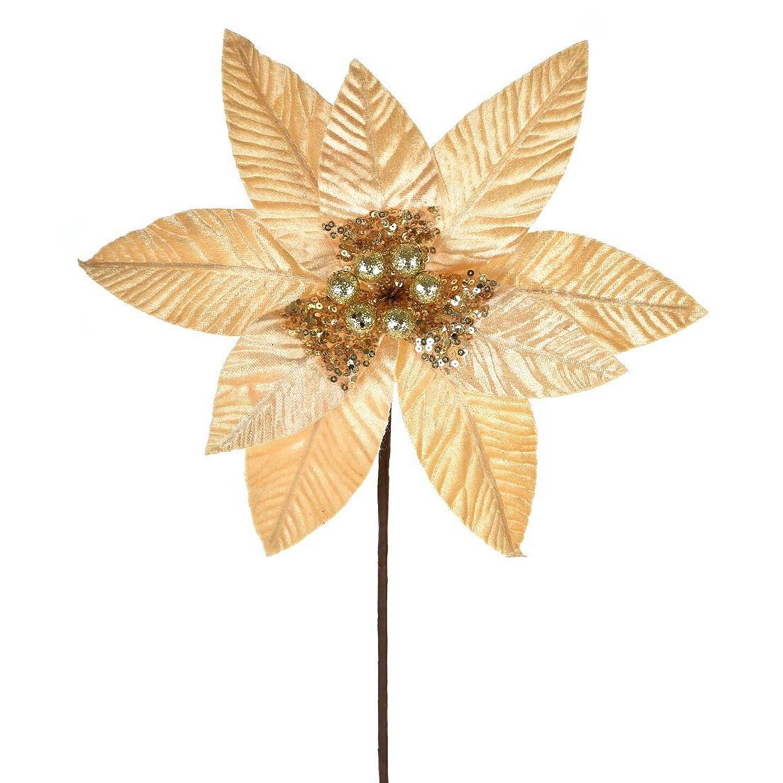 Haste Natalina 50 cm Bico de Papagaio Dourada - 44599-152