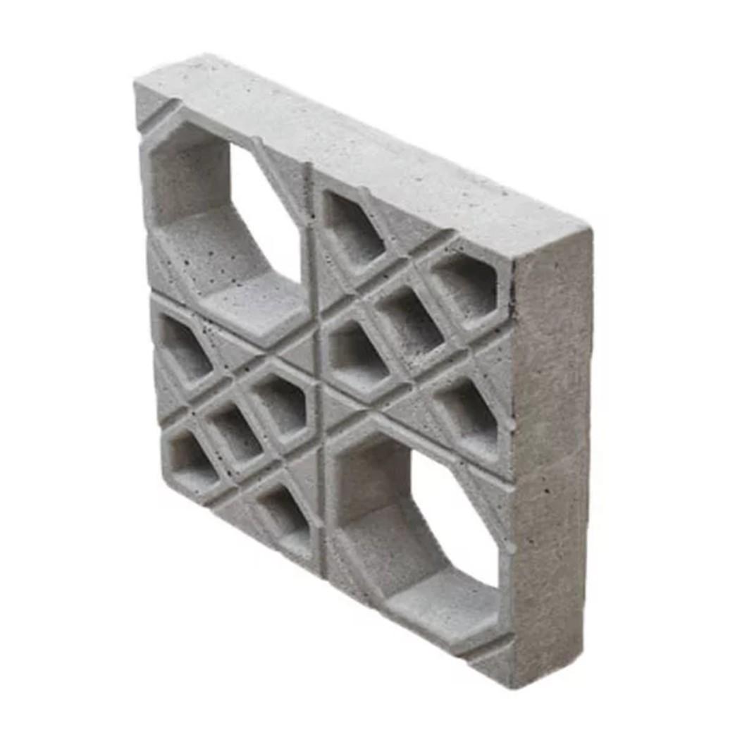 Cobogo Concreto Fosco Vazado 39x39 cm 589 - Fortal