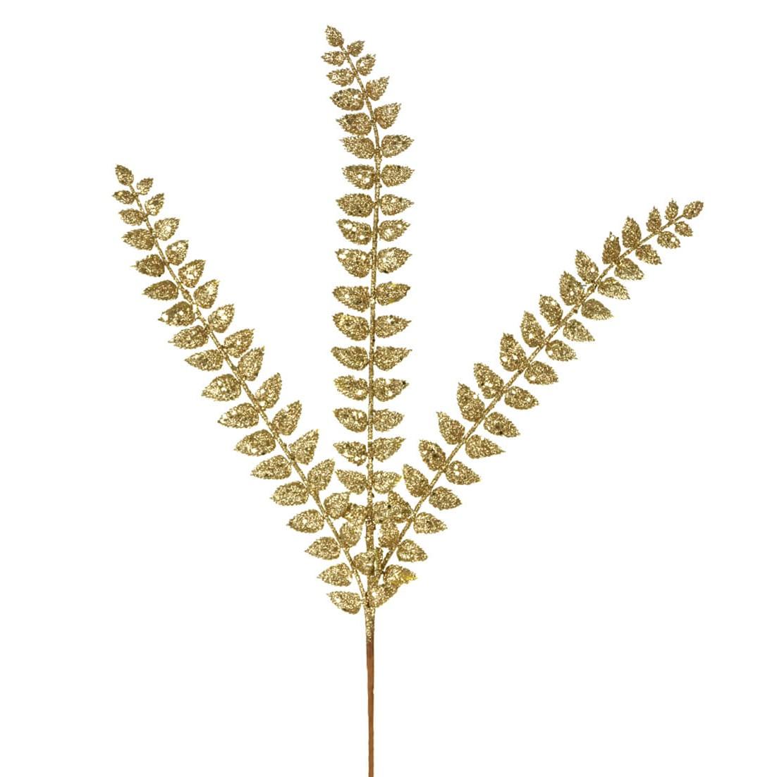 Haste Natalina 57 cm Folha Dourada - 44515-152